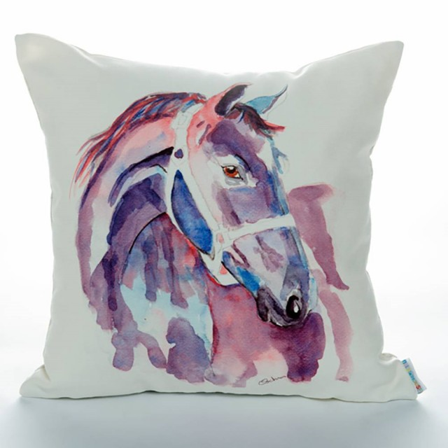 Purple Horse Cushion