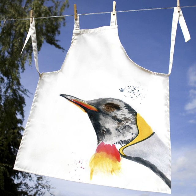 Inky Penguin 100% Canvas Adult Apron