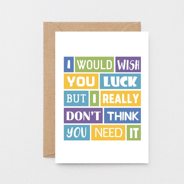 SixElevenCreations-Good Luck Card-SE0041A6-Kraft