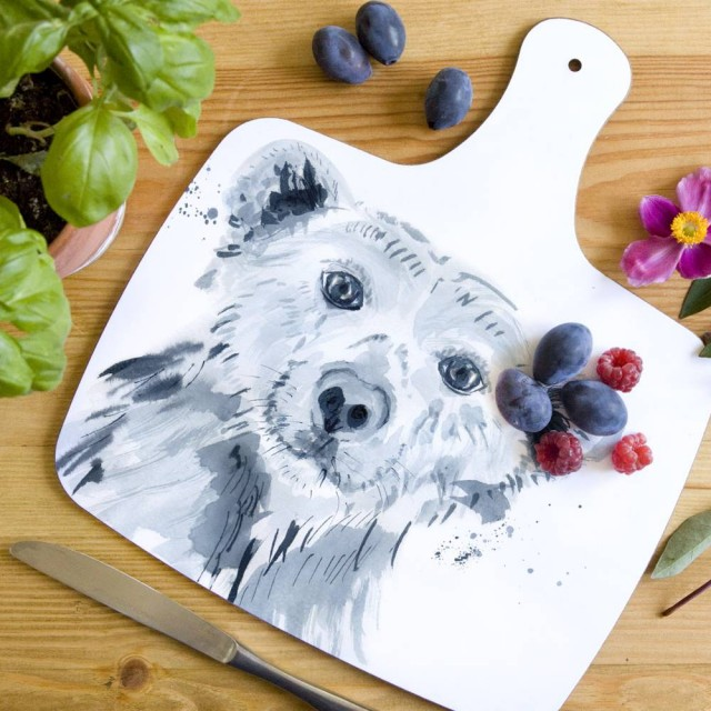 Inky Polar Bear Chopping Board