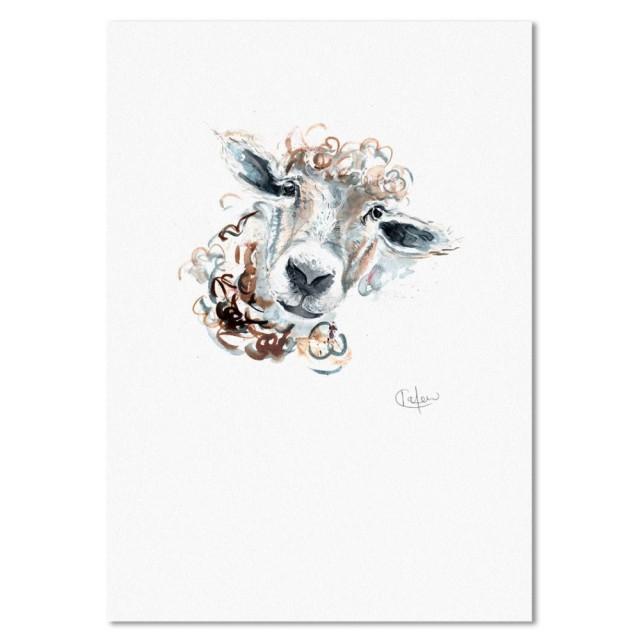 Inky Sheep Unframed Print