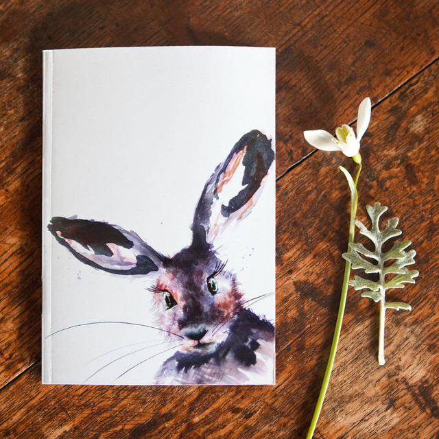 Inky Hare Eco-friendly A6 Notebook