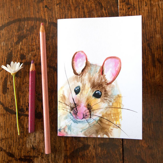 Inky Mouse Eco-friendly A6 Notebook