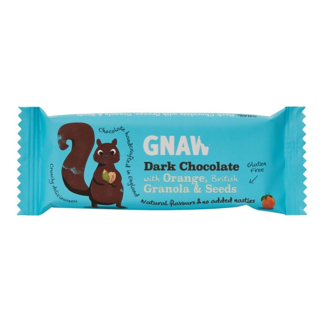 Gnaw Dark Chocolate With Orange & Seeds
