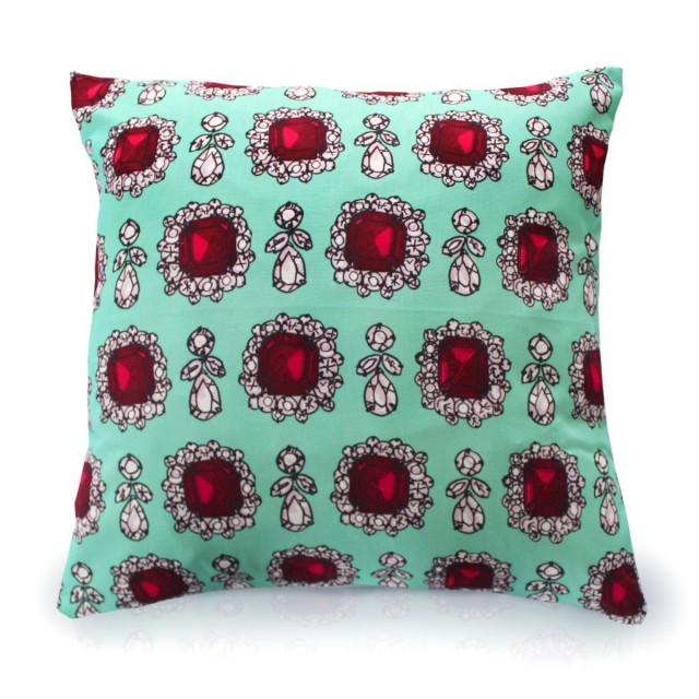 Dolce Green Printed Cushion