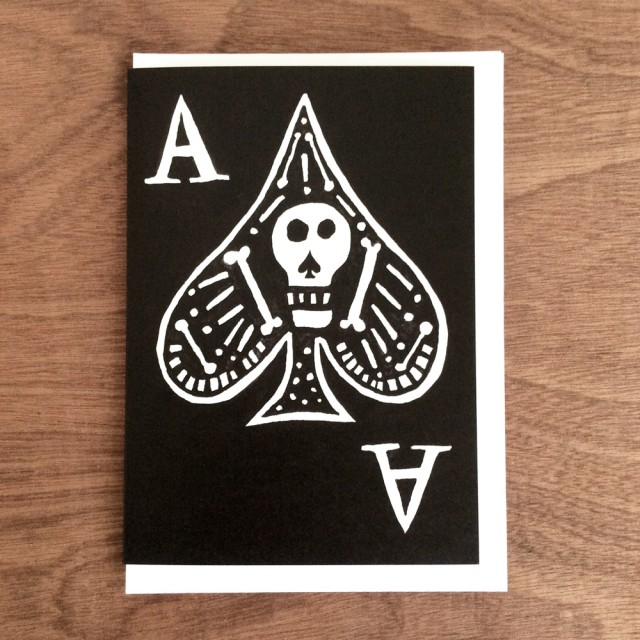 A6 Greetings Card 'ace'